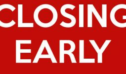 Early Closing on Saturday 24th June